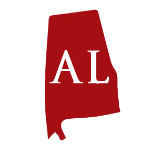 Red silhouette of Alabama with two-letter abbreviation announces state regulatory bulletin shared by ILSA Newsroom
