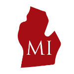 Red silhouette of Michigan with two-letter abbreviation announces state regulatory bulletin shared by ILSA Newsroom