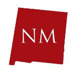 Red silhouette of New Mexico with two-letter abbreviation announces state regulatory bulletin shared by ILSA Newsroom