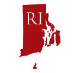 Red silhouette of Rhode Island with two-letter abbreviation announces state regulatory bulletin shared by ILSA Newsroom