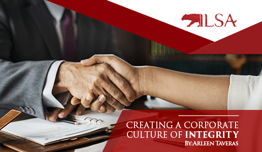 Banner Image for Creating a Corporate Culture of Integrity by Arleen Taveras