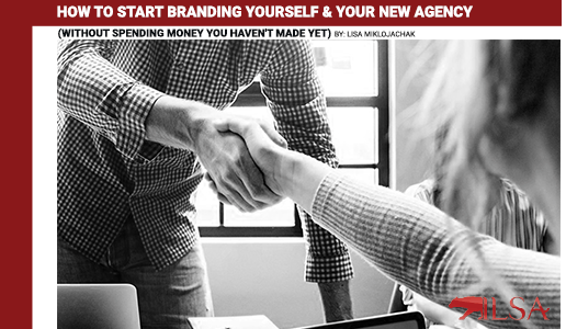 Banner Image for How to Start Branding Yourself and Your New Agency by Lisa Miklojachak